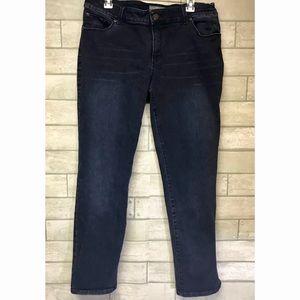 Chico's So Slimming dark wash jeans size 2, L, 12